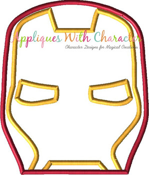 Iron Man Peeker Applique Design