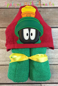 Marvin Martian Peeker Applique Design