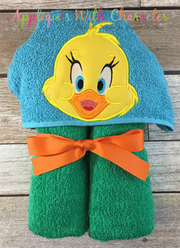 Little Quacker Duck Peeker Applique Design