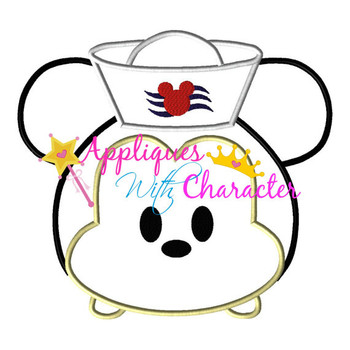 Mr Mouse Sailor Tsum Applique Design