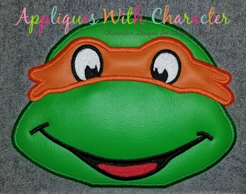 Michael Ninja Hero Turtle Peeker Applique Design
