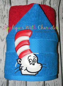 Cat Hat Peeker Applique Design