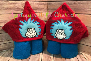 Thing 1 and Thing 2 Peeker Applique Design