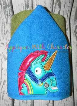 Fortnight Unicorn Peeker Applique Design