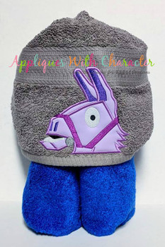 Fortnight Llama Peeker Applique Design