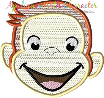 Curious Monkey Full Face Bean Stitch Design