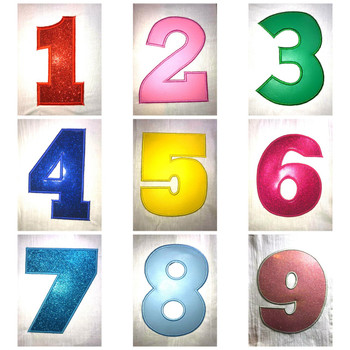 Set of Numbers Applique Design