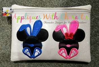 Mr Mouse and Miss Mouse Bunny Applique Designs