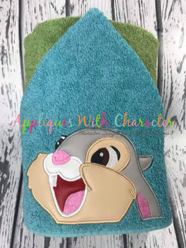 Bambie Thumper Bunny Peeker Applique Design