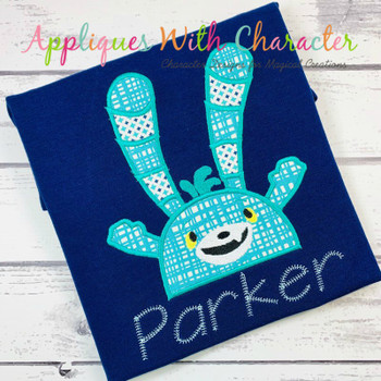 Abby Hatch Bozzly Bunny Peeker Applique Design