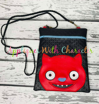 Ugly Doll Bat Peeker Applique Design