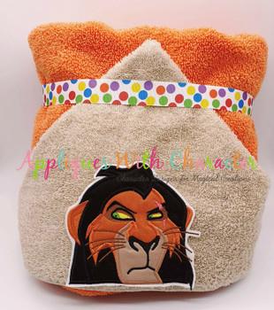 Lion Royalty Scar Lion Peeker Applique Design