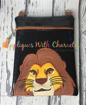Lion Royalty Mufasa Lion Peeker Applique Design