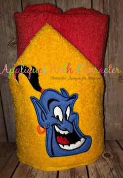 Aladdine Genie Peeker Applique Design