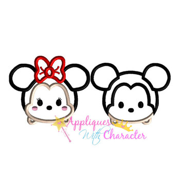 Miss Mouse Tsum Tsum SET   Applique Design