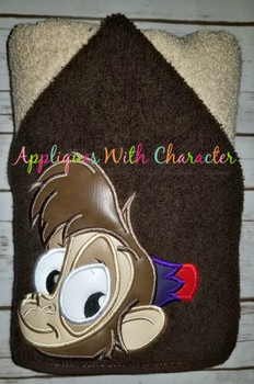 Aladdine Monkey Peeker Applique Design
