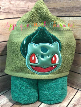 Poke Bulbasaur Peeker Applique Design