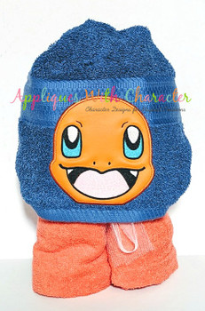Poke Charmander Peeker Applique Design