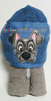Lady Tramp Peeker Dog Applique Design