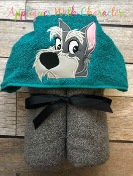 Lady Jock the Scottie Peeker Dog Applique Design