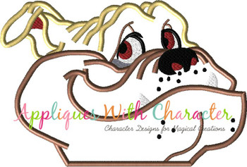 Lady Bull the Bull Dog Peeker Dog Applique Design