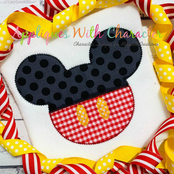Mr Mouse Clubhouse Head ZZ Applique Design