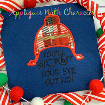 You'll Shoot Your Eye Out Applique Embroidery Design