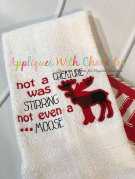 Not a Creature was Stirring Applique Embroidery Design
