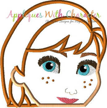 Frozen II Anna Peeker Applique Design