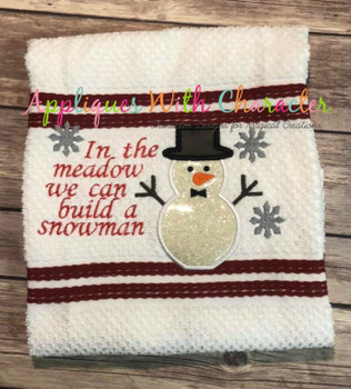 Build a Snowman Applique Embroidery Design