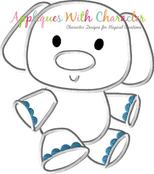 Rudy Misfit Elephant Full Body Applique Design