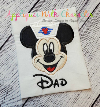 Mr Mouse Cruise Applique Design