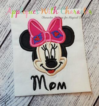 Miss Mouse Cruise Applique Design