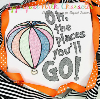 Seuss Oh The Places You'll Go Sketch Design