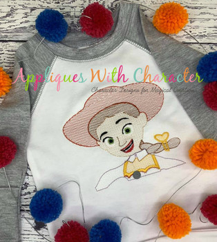 Toy Story Jessie Sketch Embroidery Design