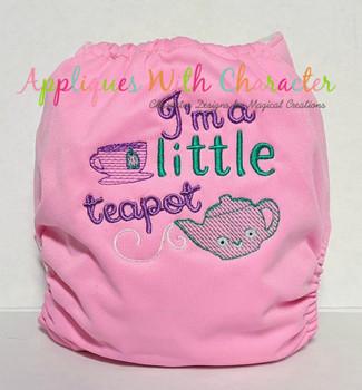 I'm a Little Teapot Nursery Rhyme Sketch Design