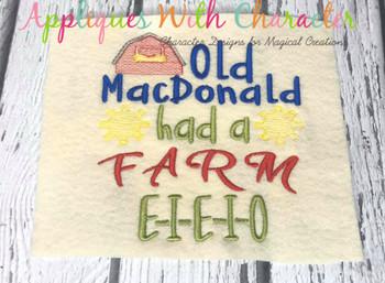 Old McDonald Had a Farm Nursery Rhyme Sketch Design
