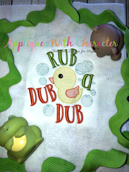 Rub a Dub Dub Nursery Rhyme Sketch Design