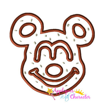 Mr Mouse Pretzel Applique Design