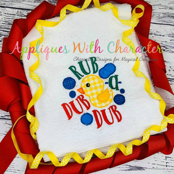 Rub a Dub Dub Nursery Rhyme ZZ Outline Stitch Design