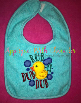 Rub a Dub Dub Nursery Rhyme Applique Embroidery Design