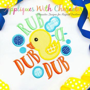 Rub a Dub Dub Nursery Rhyme Applique Embroidery Design