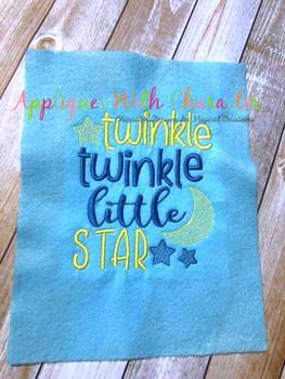Twinkle Twinkle Little Star Nursery Rhyme Sketch Design
