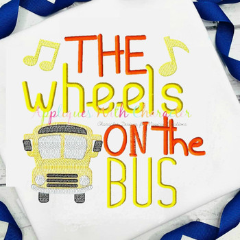 Wheels on the Bus Nursery Rhyme Sketch Design