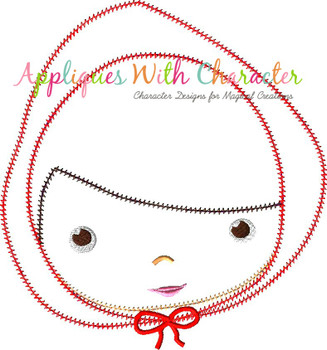Little Red Riding Hood Fairy Tale ZZ Stitch Applique Design