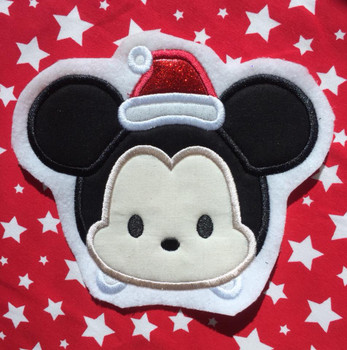 Mr Mouse Tsum Tsum Santa  Applique Design