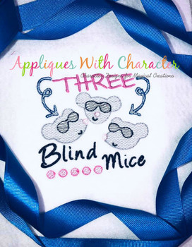 Three Blind Mice Sketch Nursery Rhyme Design