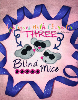 Three Blind Mice ZZ Stitch Nursery Rhyme Design
