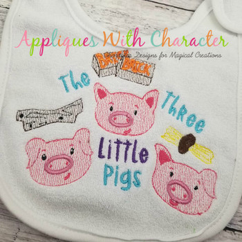 Three Little Pigs Sketch Fairy Tale Design