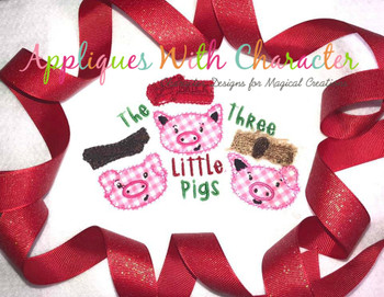 Three Little Pigs ZZ Stitch Fairy Tale Design